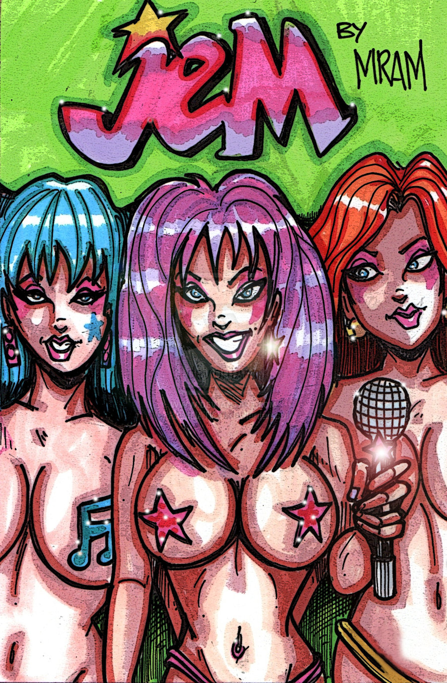 and the holograms danse jem The laughing cow nose ring