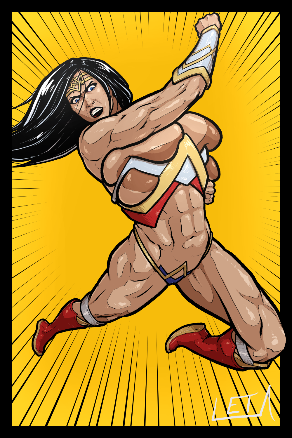 naked justice league wonder woman A certain magical index