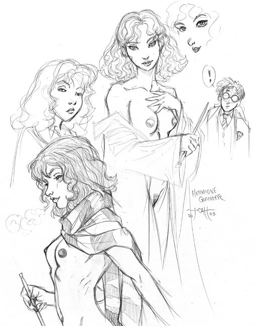harry from hermione potter nude Battle angel alita