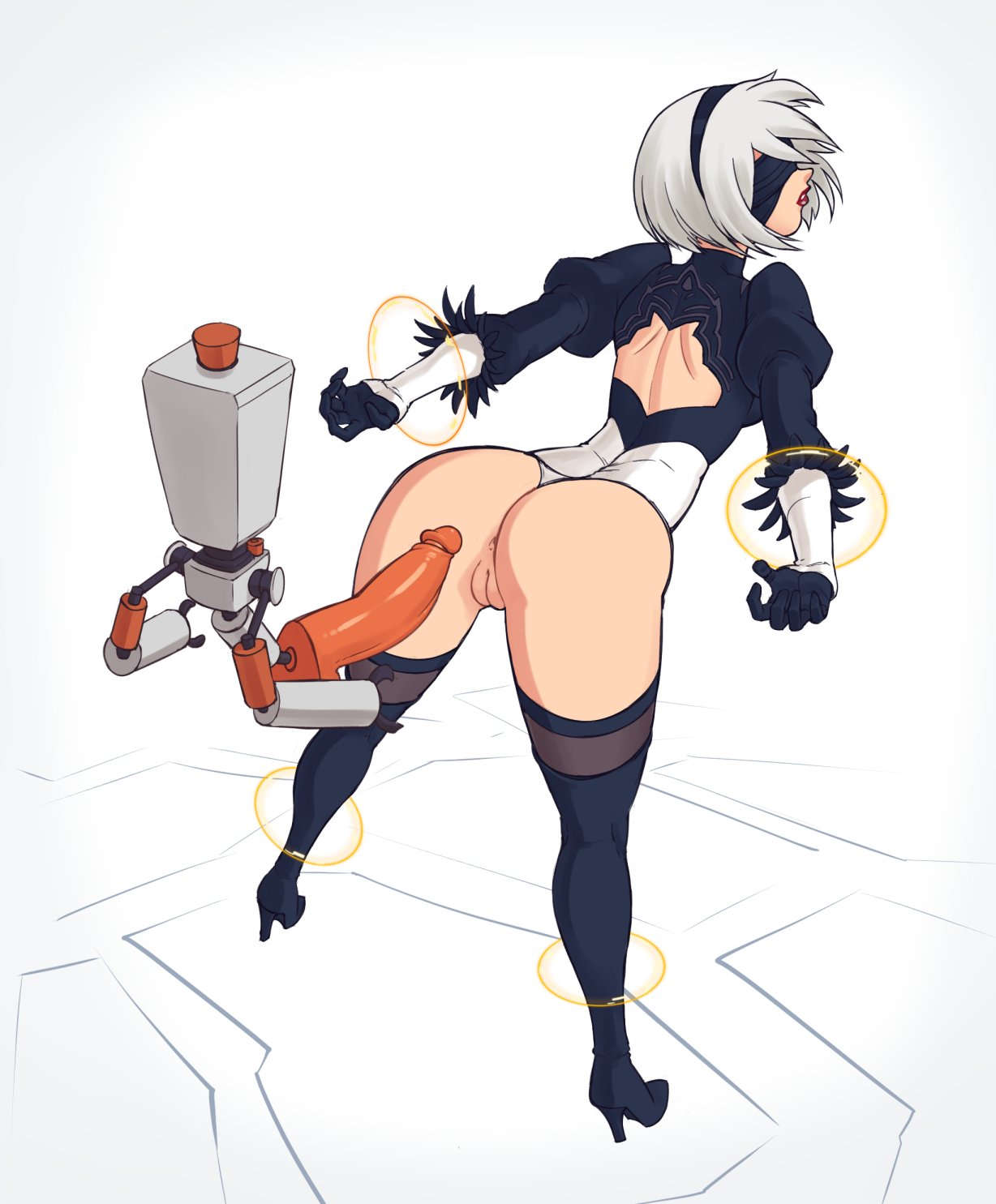 nier: automata Nami from one piece naked